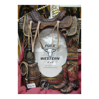 Photo Frame - Western Saddle