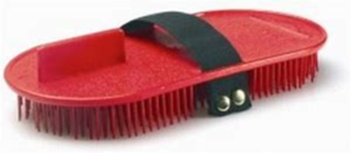 Plastic Curry Comb with Elastic Handle
