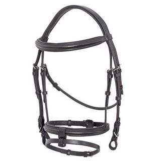 Platinum Anatomical Padded Raised Brow and Nose Bridle