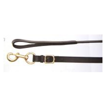 Leather Lead - Brass Snap